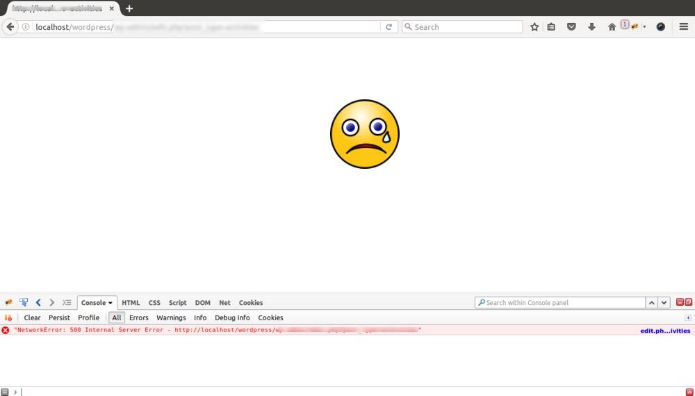 Wordpress white screen issue