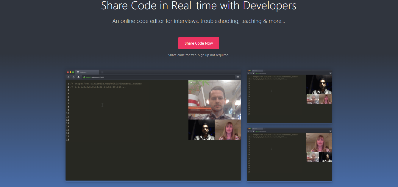Online code editor for interviews codeshare