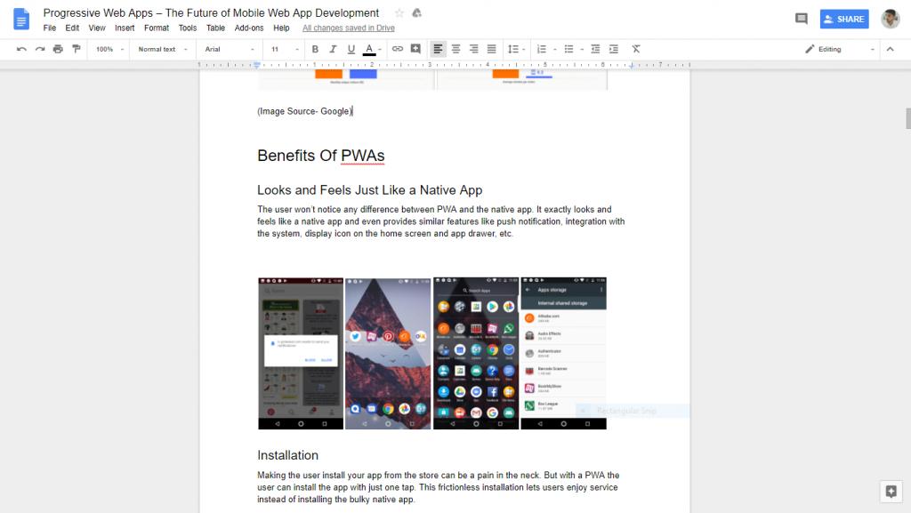 Google Docs-SPA