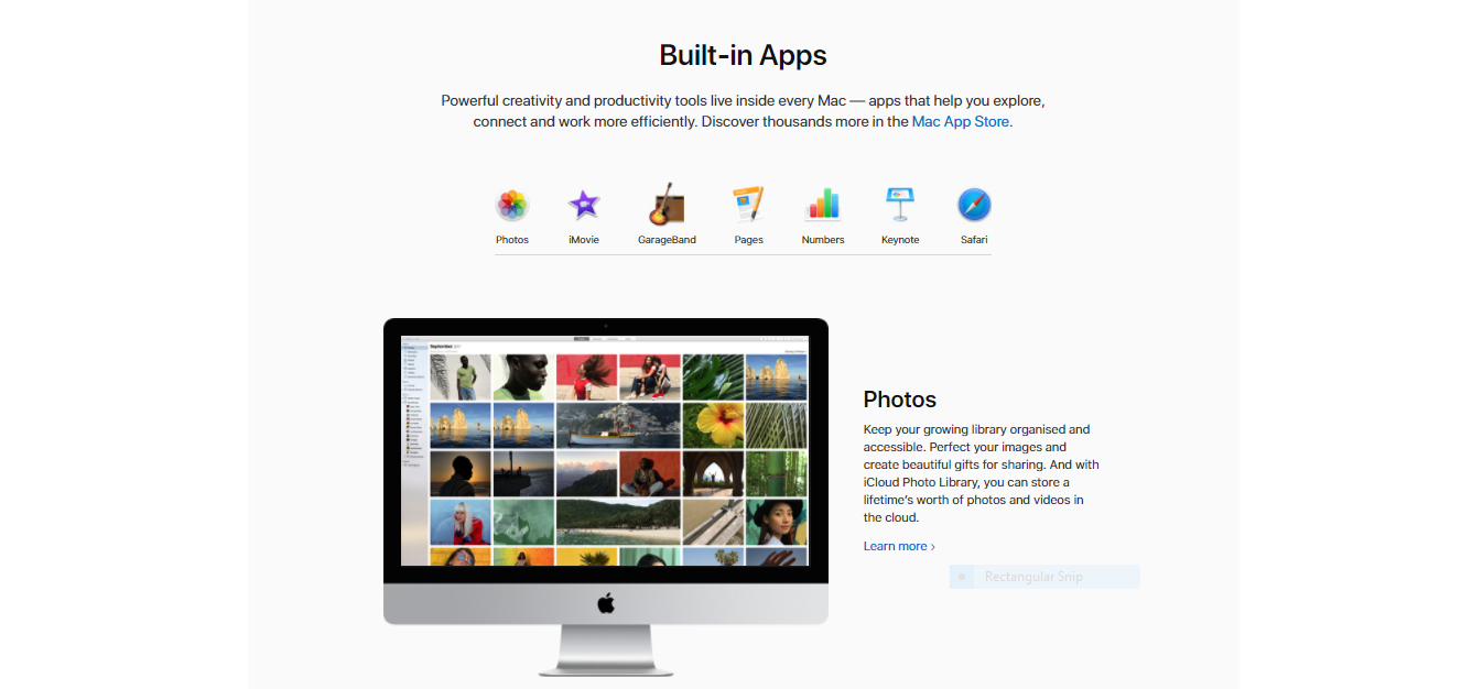 Apple website design