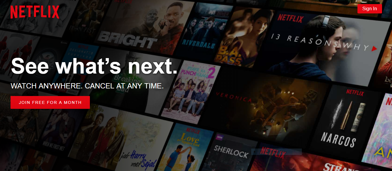 Netflix website design idea to imrove conversion rate