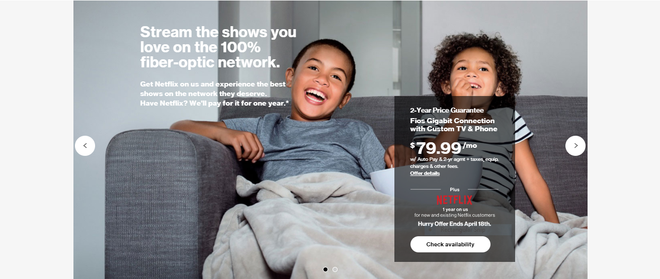 verizon website design