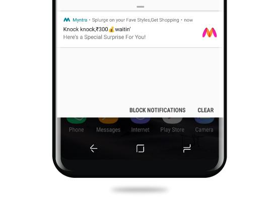 myntra push notification