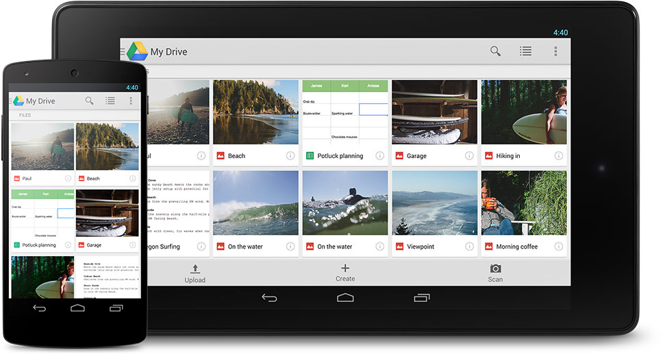 google drive - to share files and data