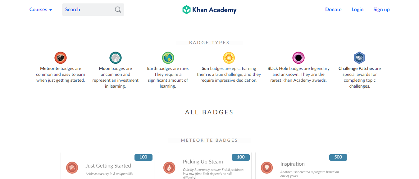 Badges-Khan-Academy_Gamification in learning