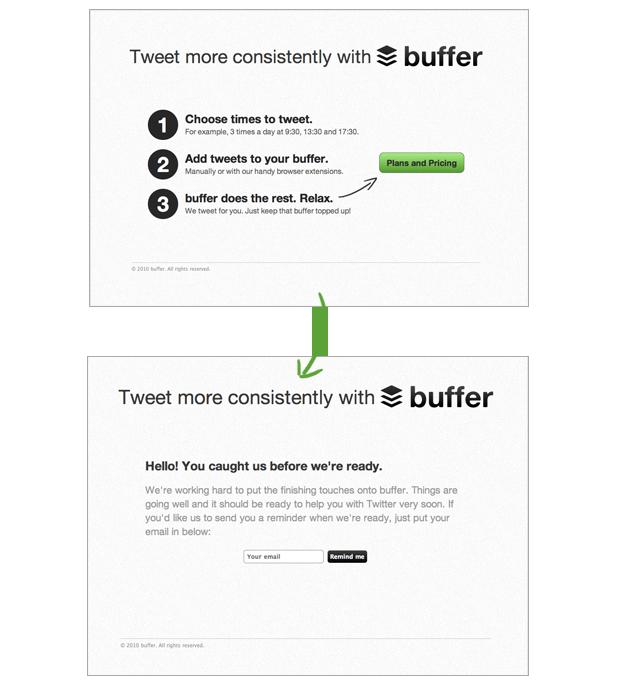 Buffer-Minimum Viable Product Example