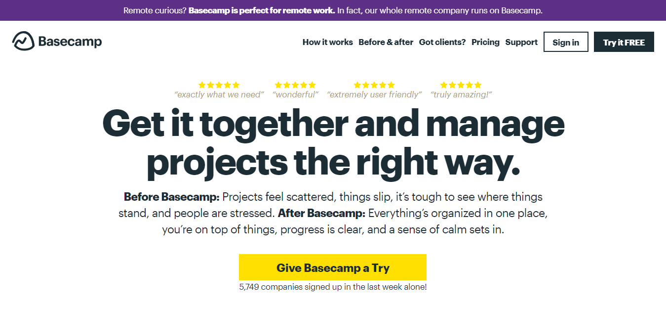 Example of Successful software outsourcing - Basecamp
