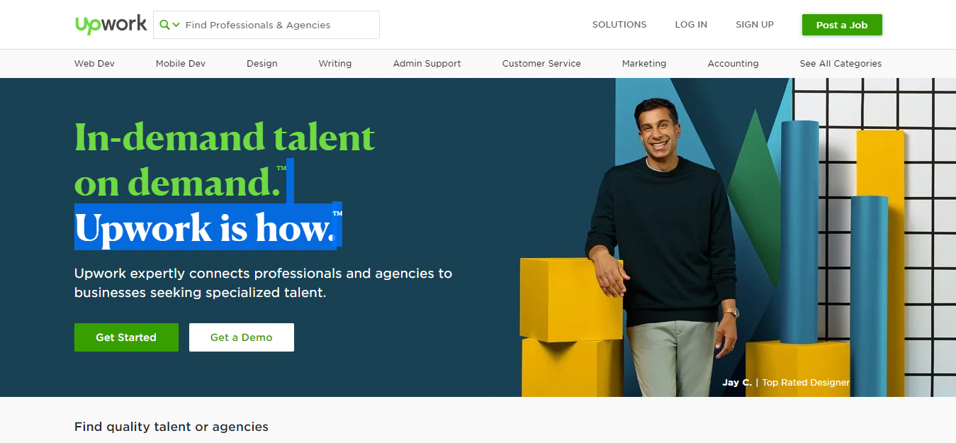 Example of Successful software outsourcing - Upwork