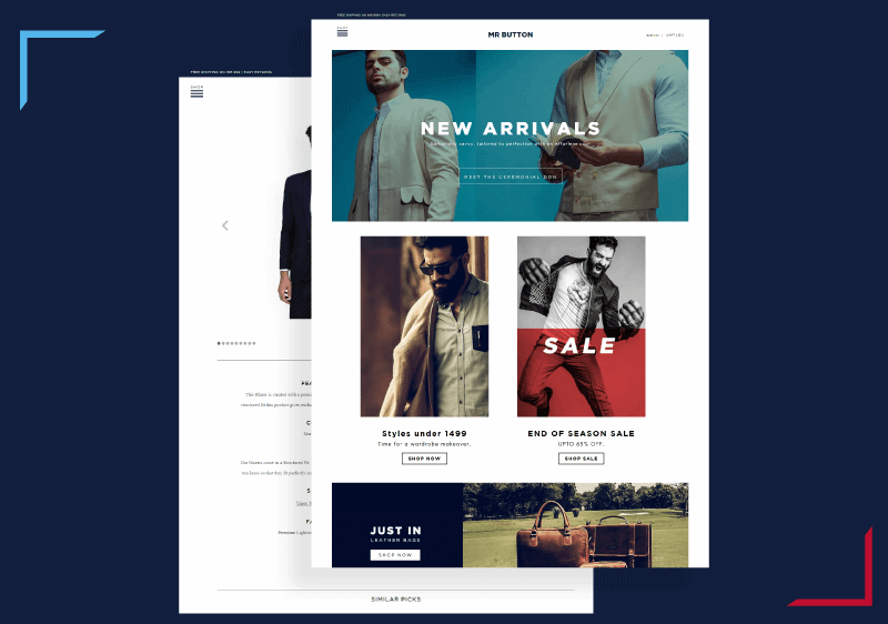 Mrbutton image- Ecommerce website designed by Techuz