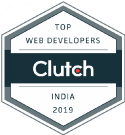 Clutch badge image- Awarded for web developer India 2019